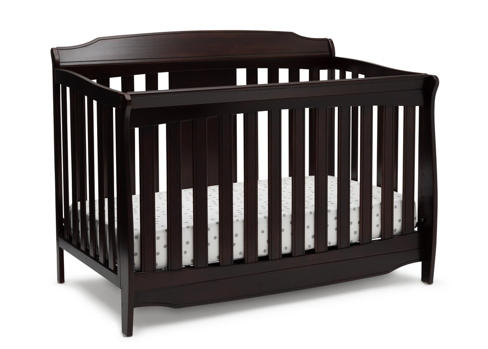 Delta Children Dark Chocolate (207) Westminster 6-in-1 Convertible Crib, Right Crib Silo View