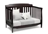 Delta Children Dark Chocolate (207) Westminster 6-in-1 Convertible Crib, Right Day Bed Silo View