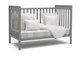 Delta Children Grey (026) Mercer 6-in-1 Convertible Crib, Right Sofa Silo View