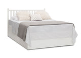 Delta Children Bianca White (130) Mercer 6-in-1 Convertible Crib, Right Full Bed with Headboard Silo View