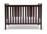 Delta Children Dark Chocolate (207) Mercer 6-in-1 Convertible Crib, Front Crib Silo View