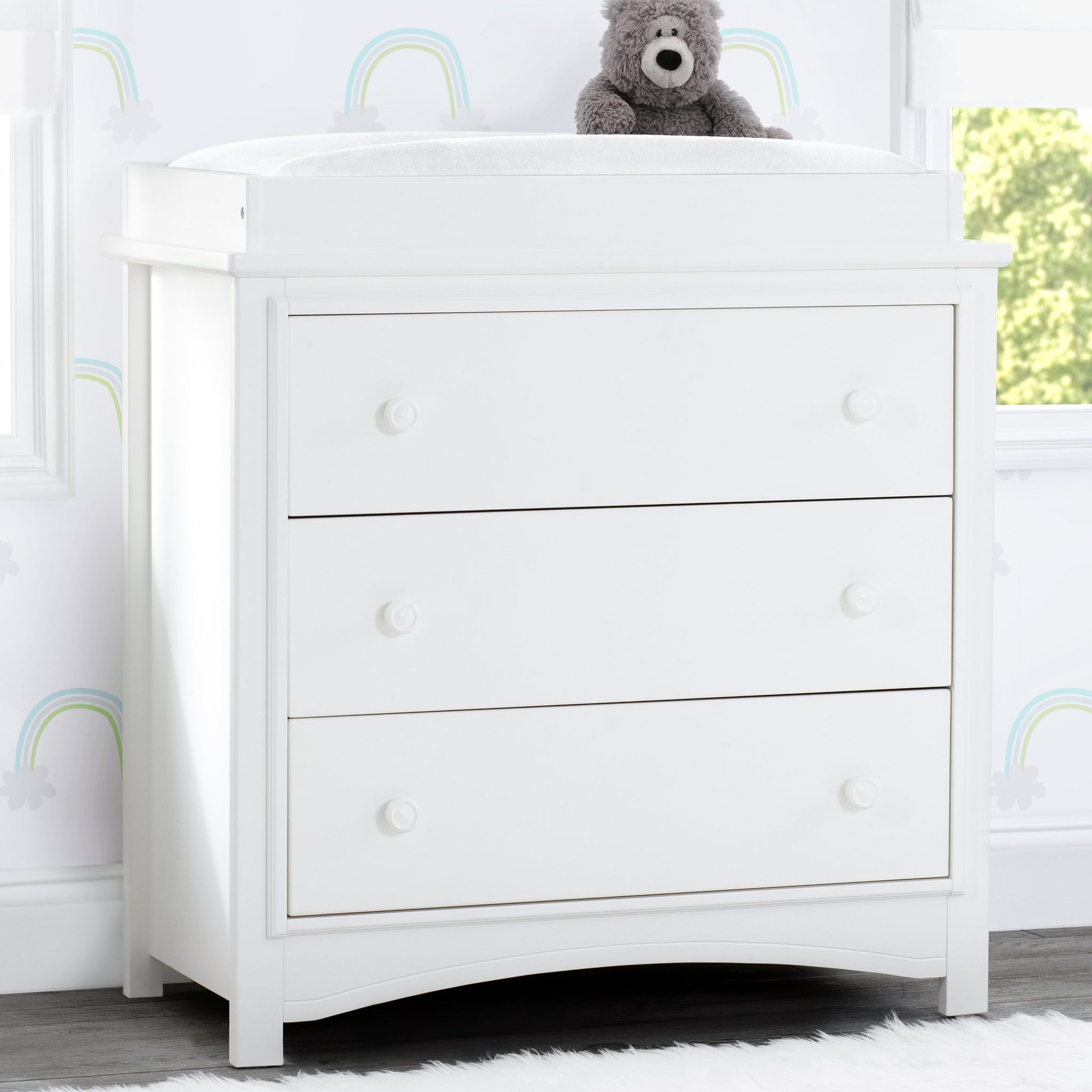 Perry 3 Drawer Dresser with Changing Top
