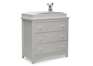 Delta Children Moonstruck Grey (1351) Perry 3 Drawer Dresser with Changing Top, Right Silo View