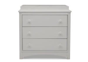 Delta Children Moonstruck Grey (1351) Perry 3 Drawer Dresser with Changing Top, Front Silo View
