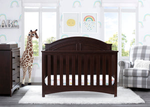 Delta Children Walnut Espresso (1324) Perry 6-in-1 Convertible Crib, Room View