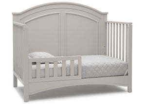 Delta Children Moonstruck Grey (1351) Perry 6-in-1 Convertible Crib, Right Toddler Bed Silo View