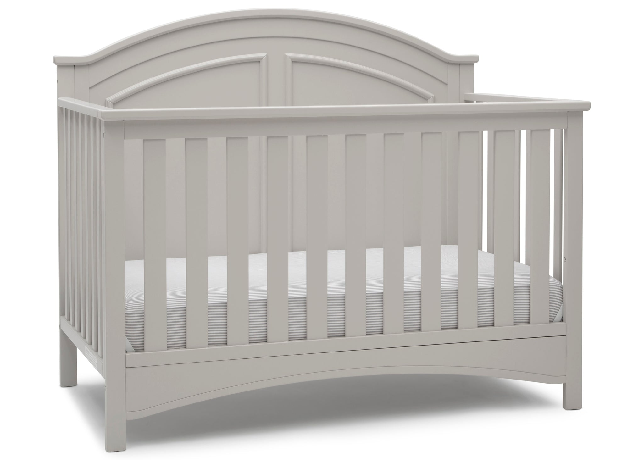 Delta Children Moonstruck Grey (1351) Perry 6-in-1 Convertible Crib, Right Crib Silo View