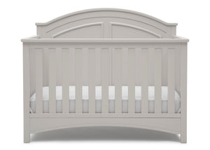 Delta Children Moonstruck Grey (1351) Perry 6-in-1 Convertible Crib, Front Crib Silo View
