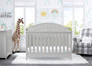 Delta Children Moonstruck Grey (1351) Perry 6-in-1 Convertible Crib, Room View