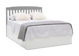 Delta Children Grey (026) Mason Convertible 6-in-1 Crib and Changer, Right Full Bed with Headboard Silo View