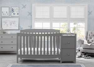 Delta Children Grey (026) Mason Convertible 6-in-1 Crib and Changer, Room View