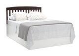 Delta Children Dark Chocolate (207) Mason Convertible 6-in-1 Crib and Changer, Right Full Bed with Headboard Silo View