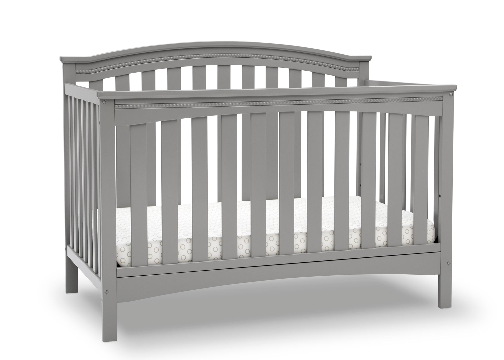 Delta Children Grey (026) Waverly 6-in-1 Convertible Crib, Right Crib Silo View