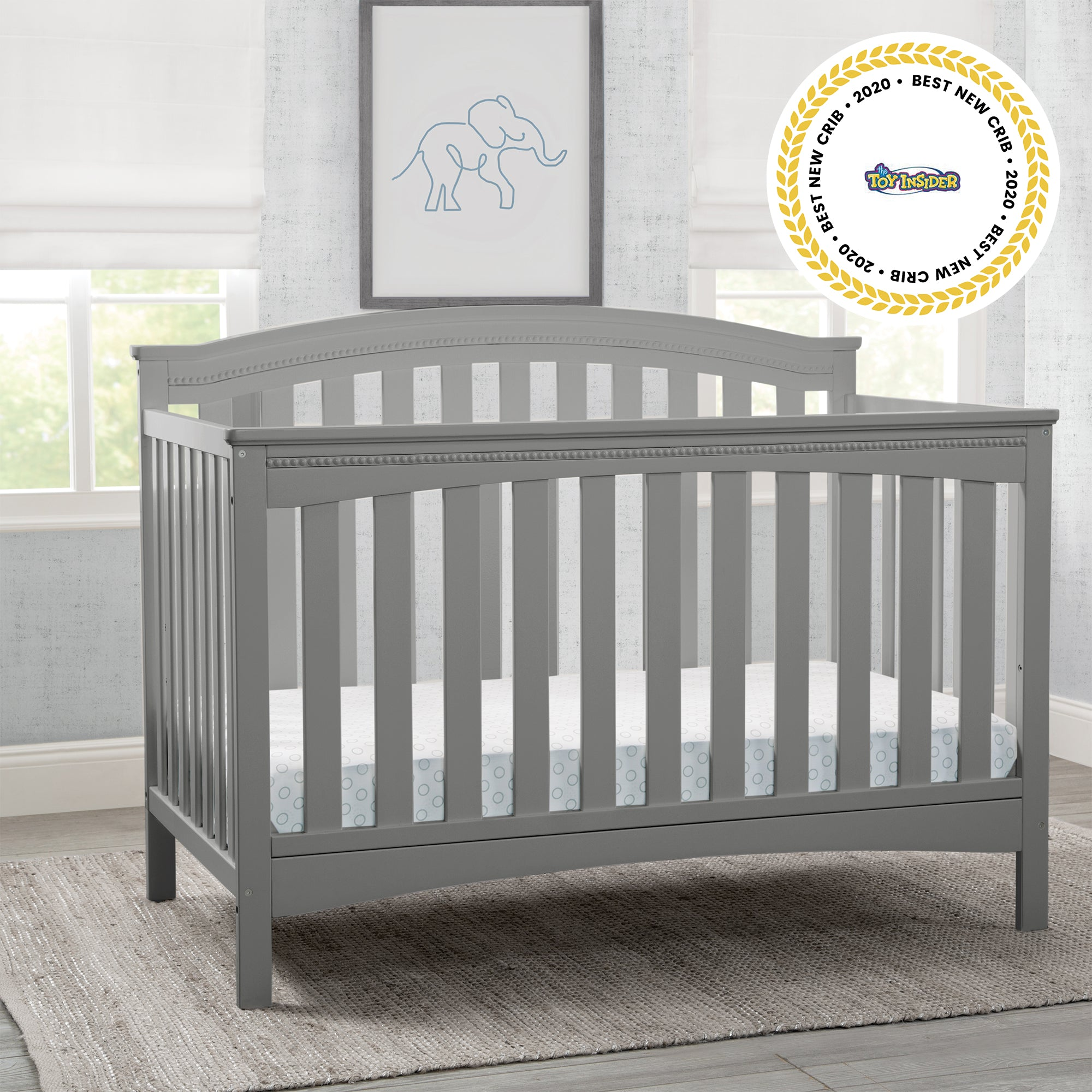 Waverley 6 in 1 Convertible Crib Grey 026