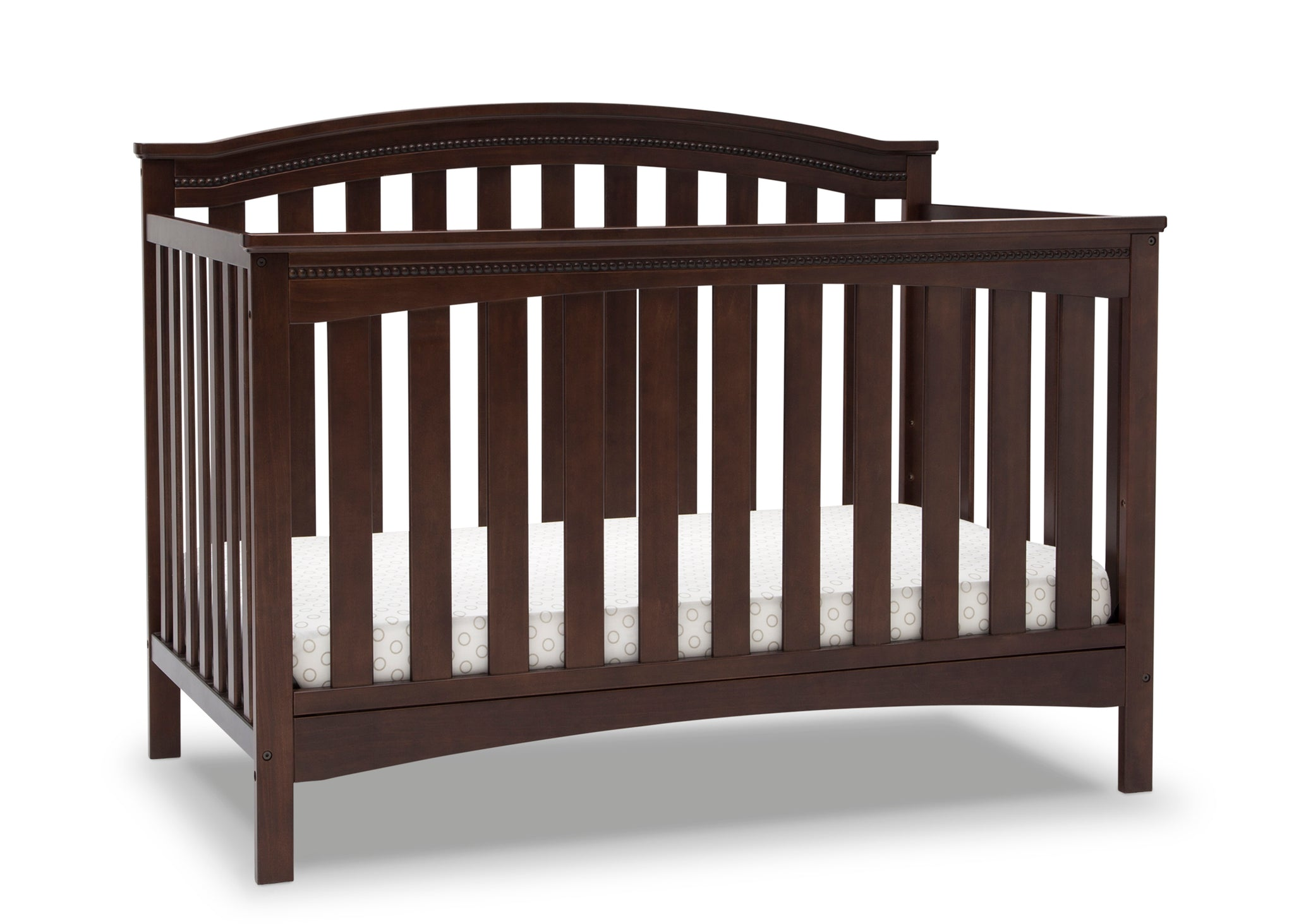 Delta Children Walnut Espresso (1324) Waverly 6-in-1 Convertible Crib, Right Crib Silo View