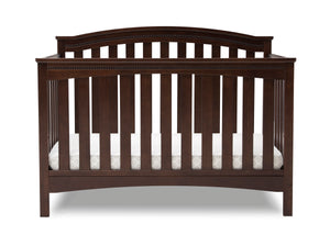 Delta Children Walnut Espresso (1324) Waverly 6-in-1 Convertible Crib, Front Crib Silo View