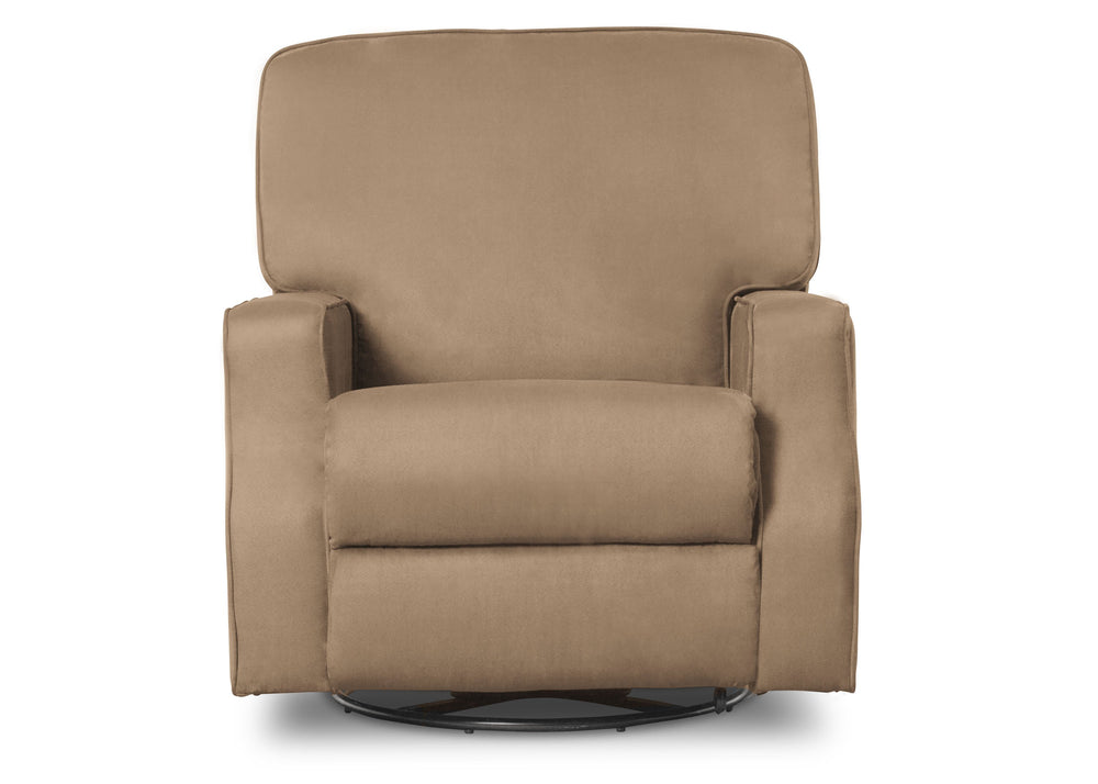 Delta Children Beige (276) Caleb Nursery Recliner Glider Swivel Chair (W1520210C), Silo Front, a3a