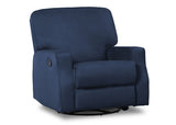 Delta Children Navy (467) Caleb Nursery Recliner Glider Swivel Chair (W1520210C), Silo Side, b2b