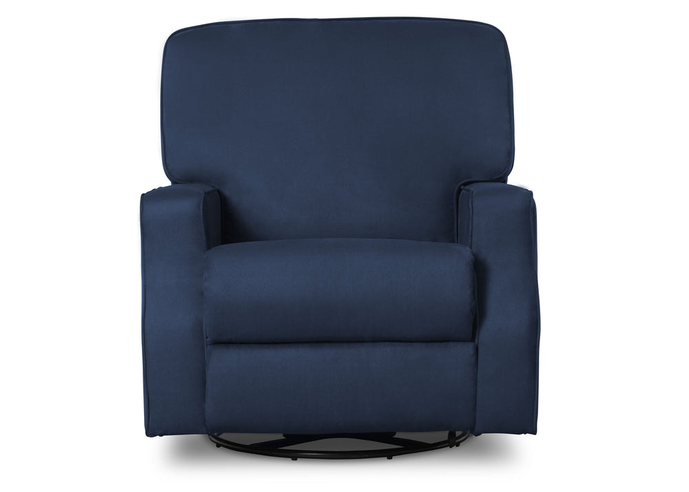 Delta Children Navy (467) Caleb Nursery Recliner Glider Swivel Chair (W1520210C), Silo Front, b3b