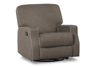 Delta Children Graphite with Dove Grey (944) Caleb Nursery Recliner Glider Swivel Chair (W1520210C), Silo Side, c2c
