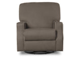 Delta Children Graphite with Dove Welt (944) Caleb Nursery Recliner Glider Swivel Chair (W1520210C), Silo Front, c3c