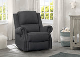 Delta Children Charcoal (931) Drake Nursery Recliner Swivel Glider Chair (W3524310C), Hangtag, c1c
