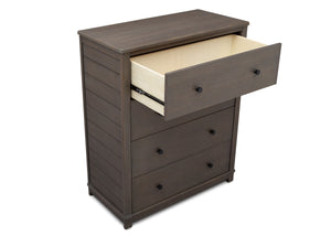 Simmons Kids Rustic Grey (084) Monterey 4 Drawer Chest, Open Drawer View