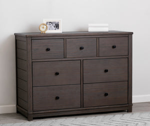 Simmons Kids Rustic Grey (084) Monterey 7 Drawer Dresser
