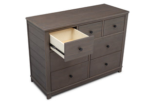 Simmons Kids Rustic Grey (084) Monterey 7 Drawer Dresser, Open Drawer View