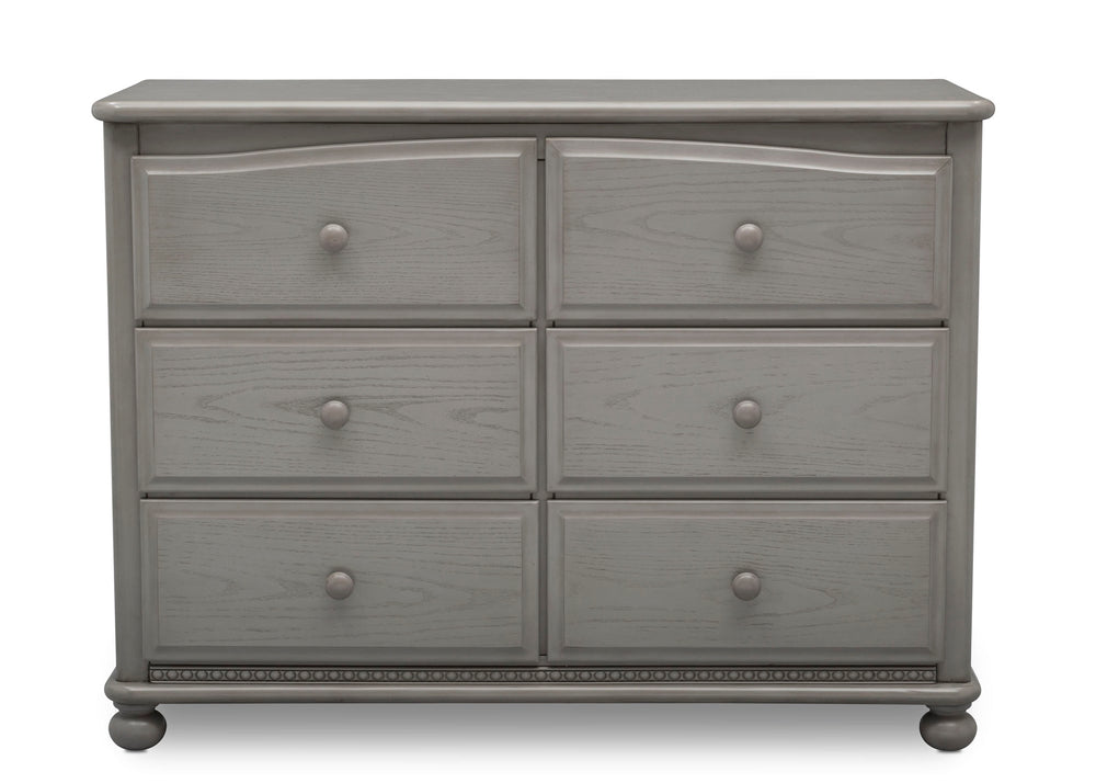 Simmons Kids Storm (161) Cortona 6 Drawer Dresser, Front Facing Silo, b2b
