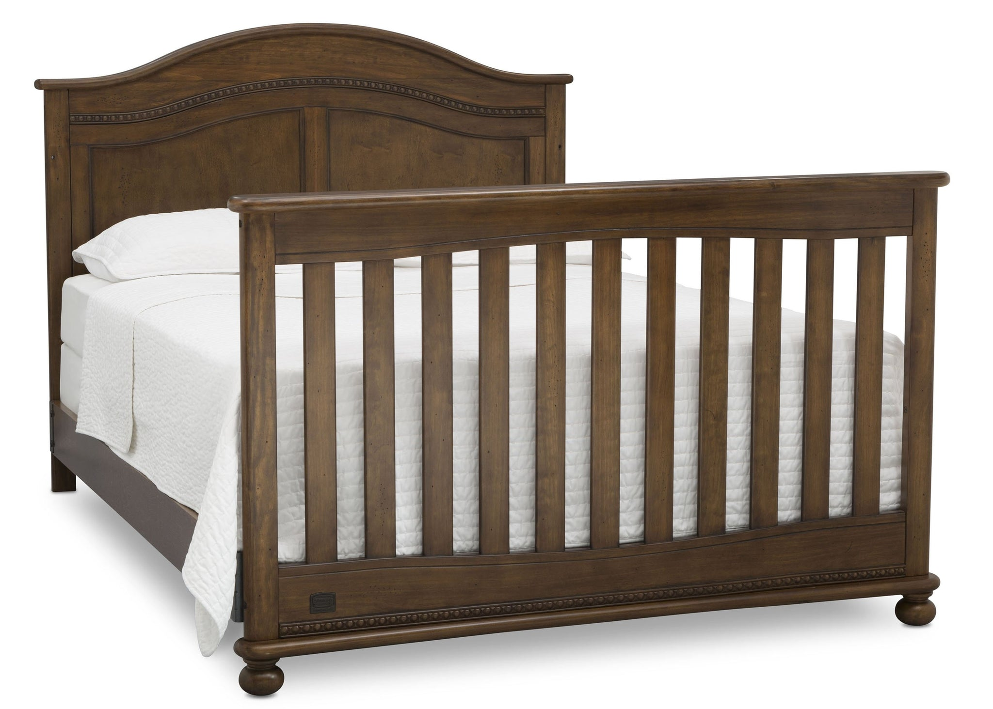 Simmons Kids Antique Chestnut (2100) Bedford 4-in-1 Convertible Crib (W337150), Fullbed, c6c