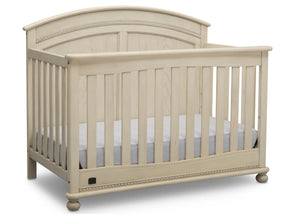 Simmons Kids Antique White (122) Ainsworth 4-in-1 Convertible Crib (W337250), Right Facing, a3a