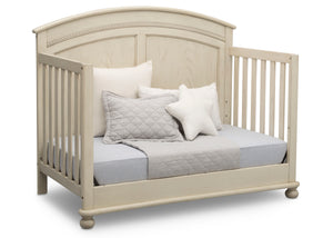 Simmons Kids Antique White (122) Ainsworth 4-in-1 Convertible Crib (W337250), Day Bed Conversion, a5a