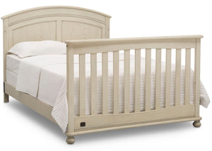 Simmons Kids Antique White (122) Ainsworth 4-in-1 Convertible Crib (W337250), Full Size Bed Conversion, a6a