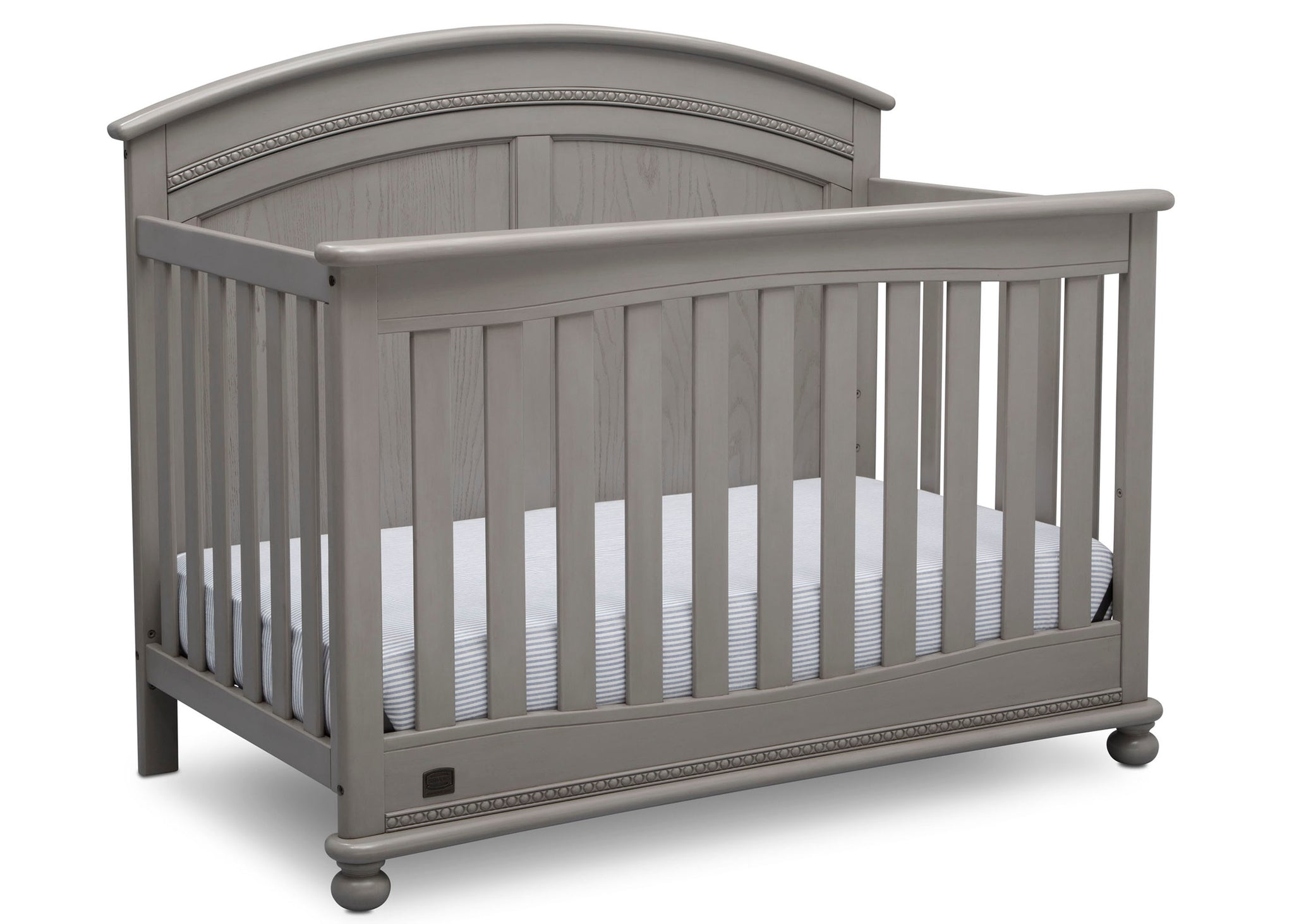 Simmons Kids Storm (161) Ainsworth 4-in-1 Convertible Crib (W337250), Right Facing, b3b