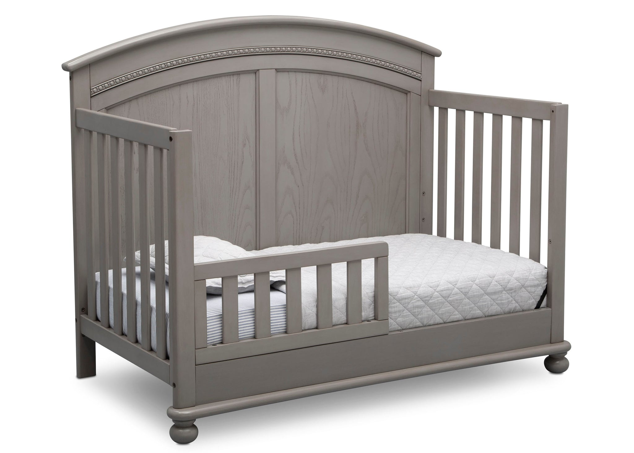 Simmons Kids Storm (161) Ainsworth 4-in-1 Convertible Crib (W337250), Toddler Bed Conversion, b4b