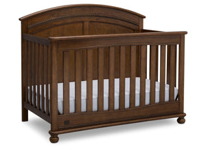 Simmons Kids Antique Chestnut (2100) Ainsworth 4-in-1 Convertible Crib (W337250), Right Facing, c3c