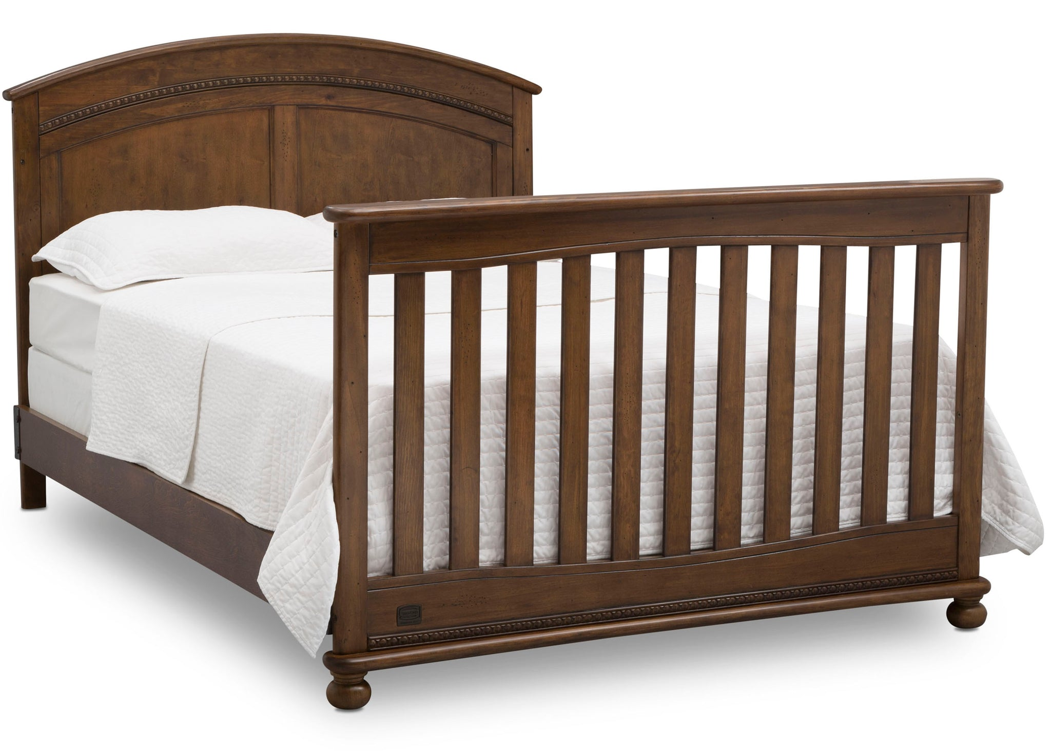 Simmons Kids Antique Chestnut (2100) Ainsworth 4-in-1 Convertible Crib (W337250), Full Bed Conversion, c6c