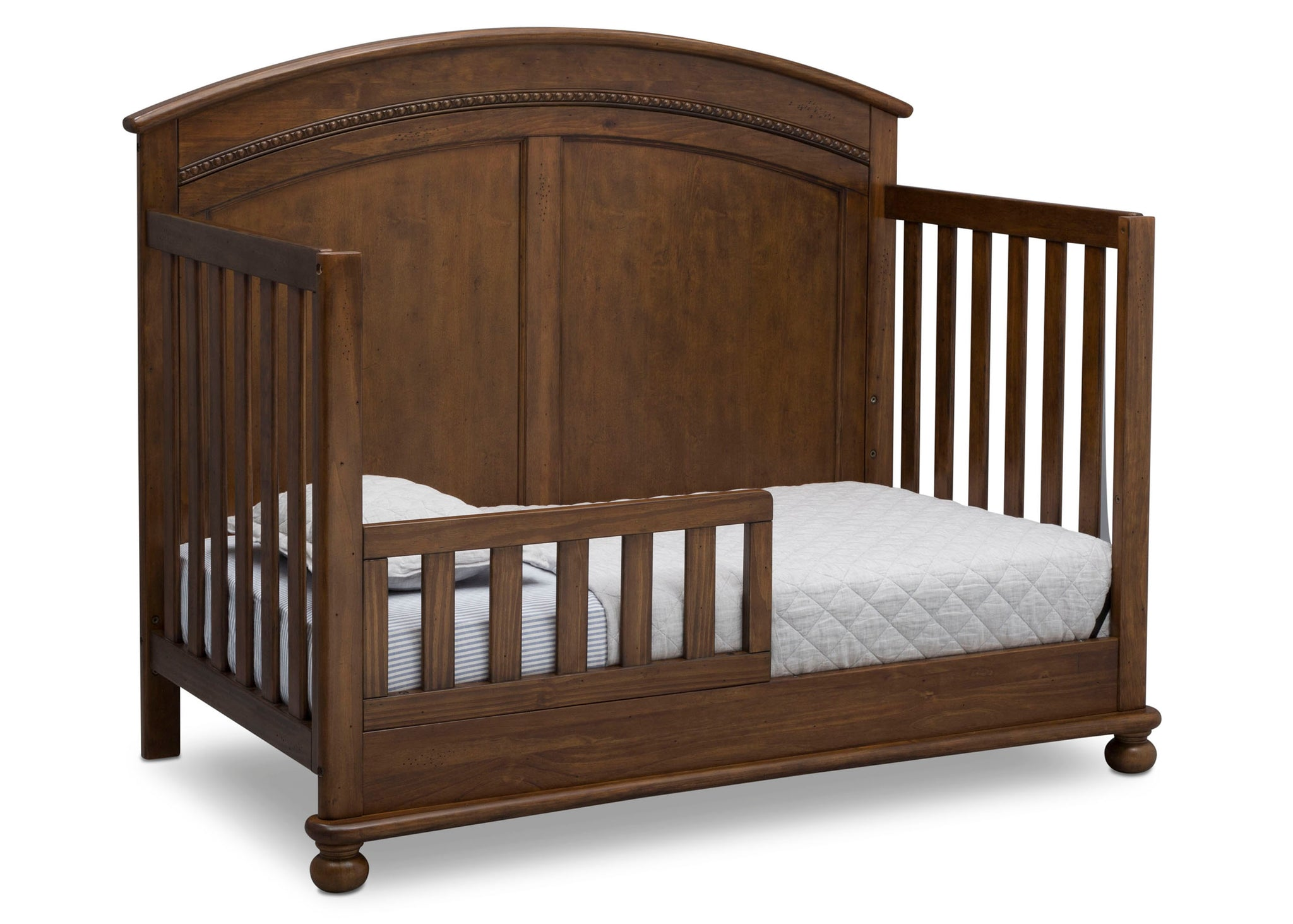 Simmons Kids Antique Chestnut (2100) Ainsworth 4-in-1 Convertible Crib (W337250), Toddler Bed Conversion, c4c