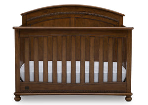 Simmons Kids Antique Chestnut (2100) Ainsworth 4-in-1 Convertible Crib (W337250), Front Silo, c2c