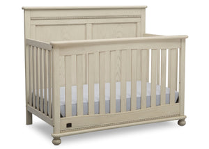 Delta Children Antique White (122) Fontana 4-in-1 Convertible Crib (W337350) Right Facing Silo, a3a