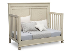Delta Children Antique White (122) Fontana 4-in-1 Convertible Crib (W337350) Day Bed Conversion, a5a