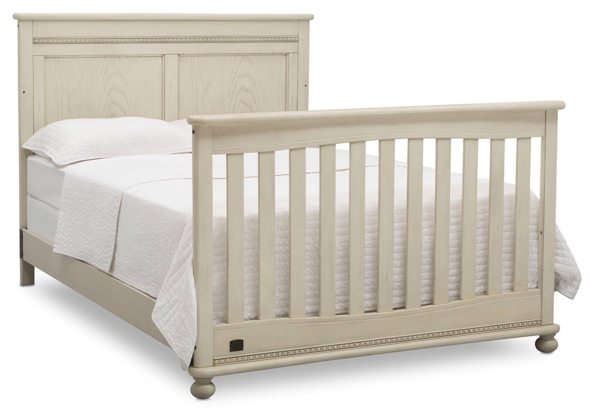 Delta Children Antique White (122) Fontana 4-in-1 Convertible Crib (W337350) Full Bed Conversion, a6a