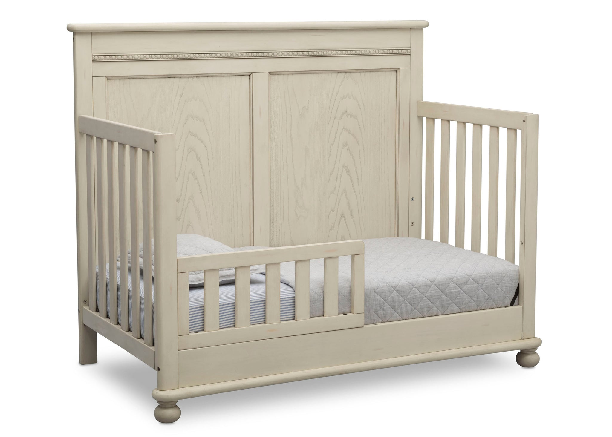 Delta Children Antique White (122) Fontana 4-in-1 Convertible Crib (W337350) Toddler Bed Conversion, a4a