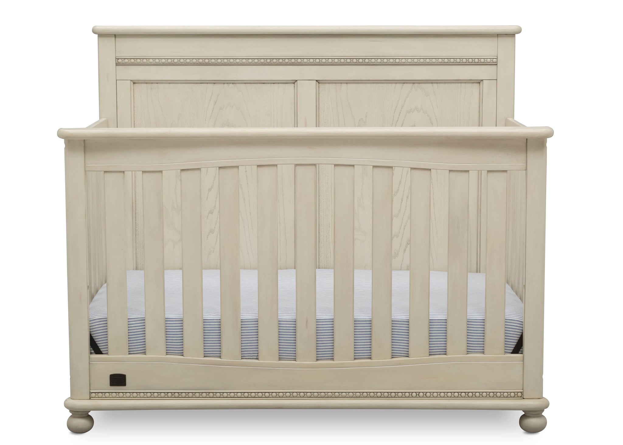Delta Children Antique White (122) Fontana 4-in-1 Convertible Crib (W337350) Front Facing Silo, a2a