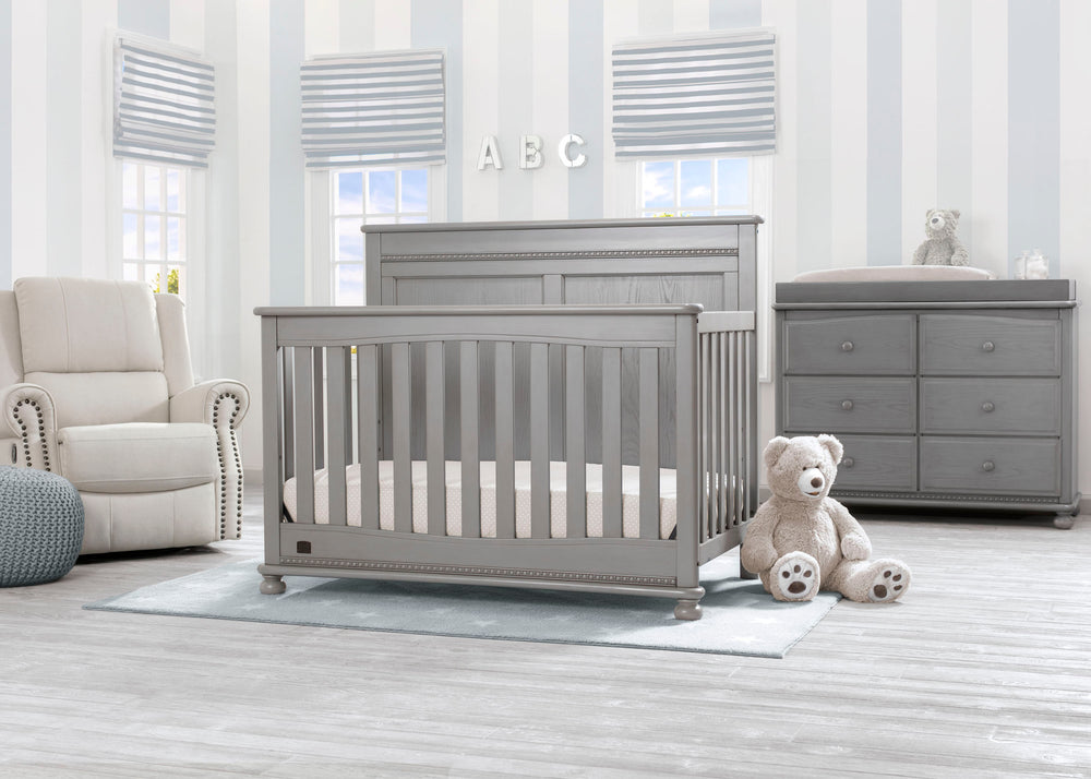 Delta Children Storm (161) Fontana 4-in-1 Convertible Crib (W337350) Room View, b1b