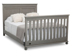 Delta Children Storm (161) Fontana 4-in-1 Convertible Crib (W337350) Full Bed Conversion, b6b