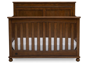 Delta Children Antique Chestnut (2100) Fontana 4-in-1 Convertible Crib (W337350) Front Facing Silo, c2c