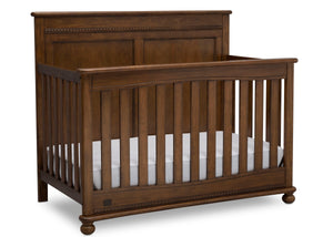 Delta Children Antique Chestnut (2100) Fontana 4-in-1 Convertible Crib (W337350) Right Facing Silo, c3c