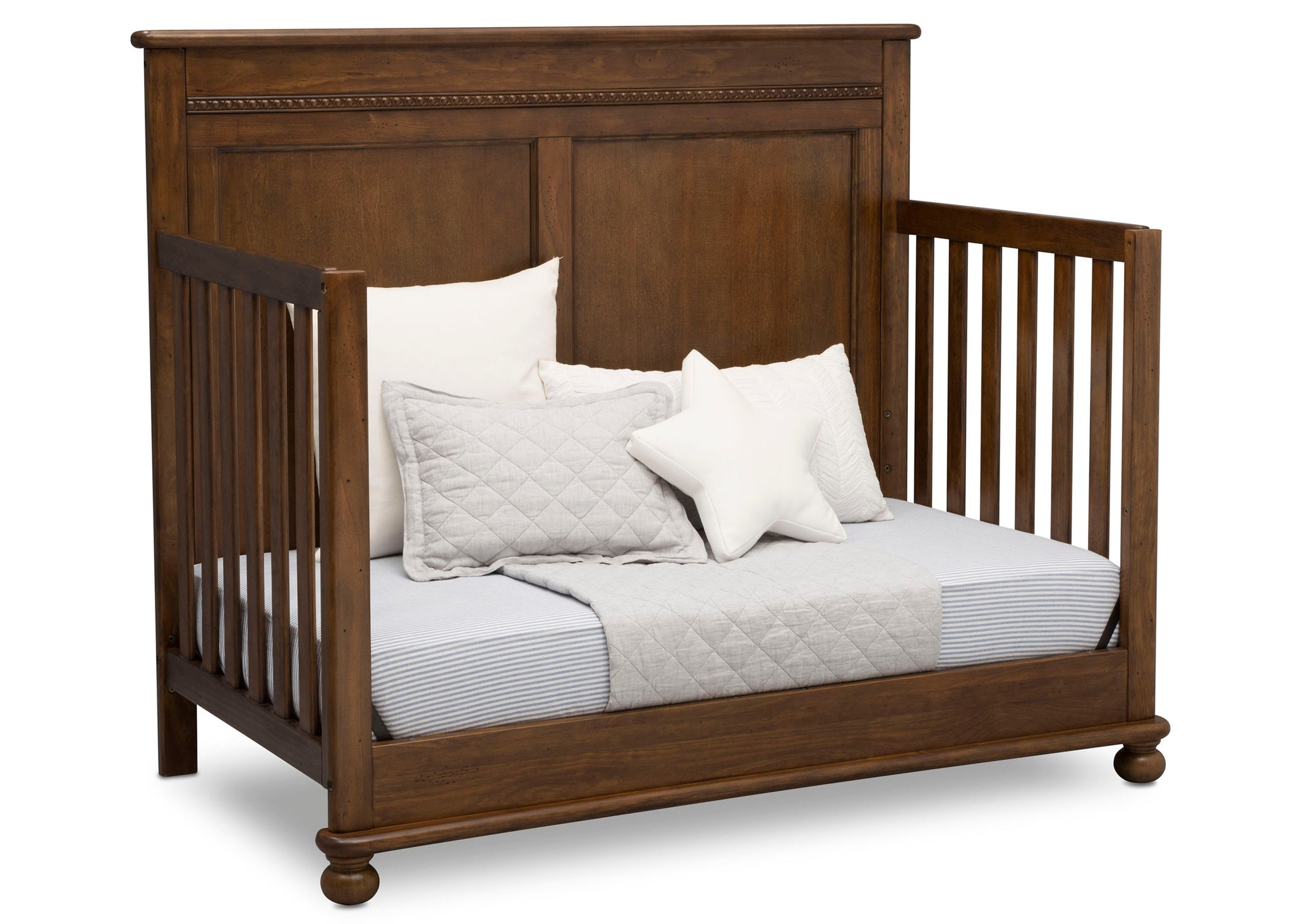 Delta Children Antique Chestnut (2100) Fontana 4-in-1 Convertible Crib (W337350) Day Bed Conversion, c5c